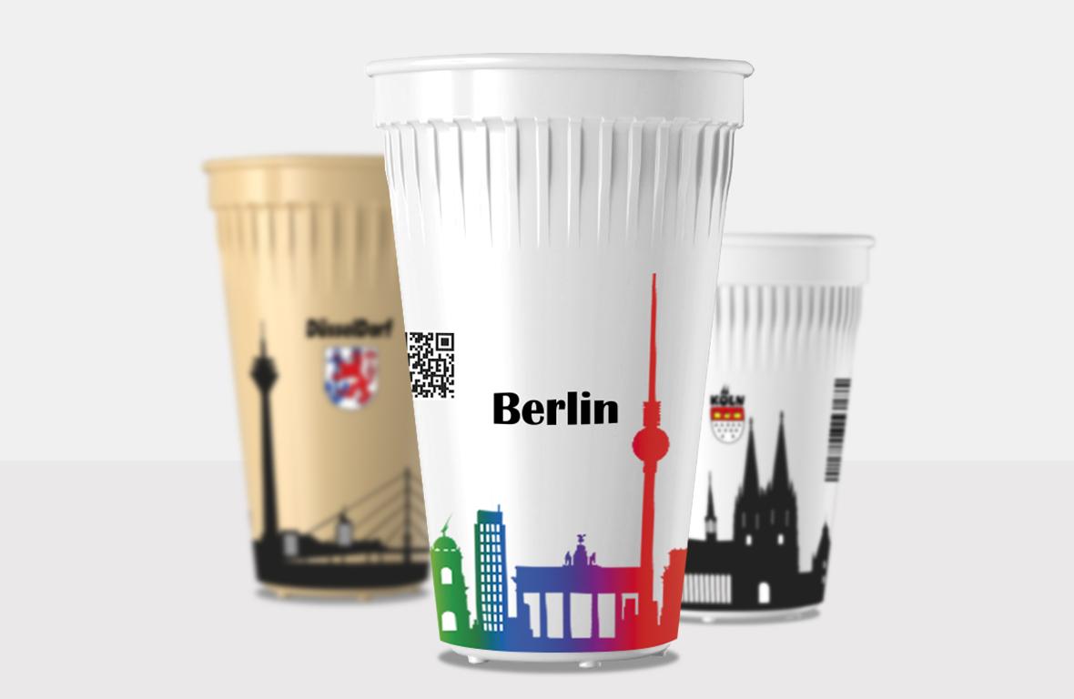 Bedruckte Kaffeebecher bei cupstorys.com