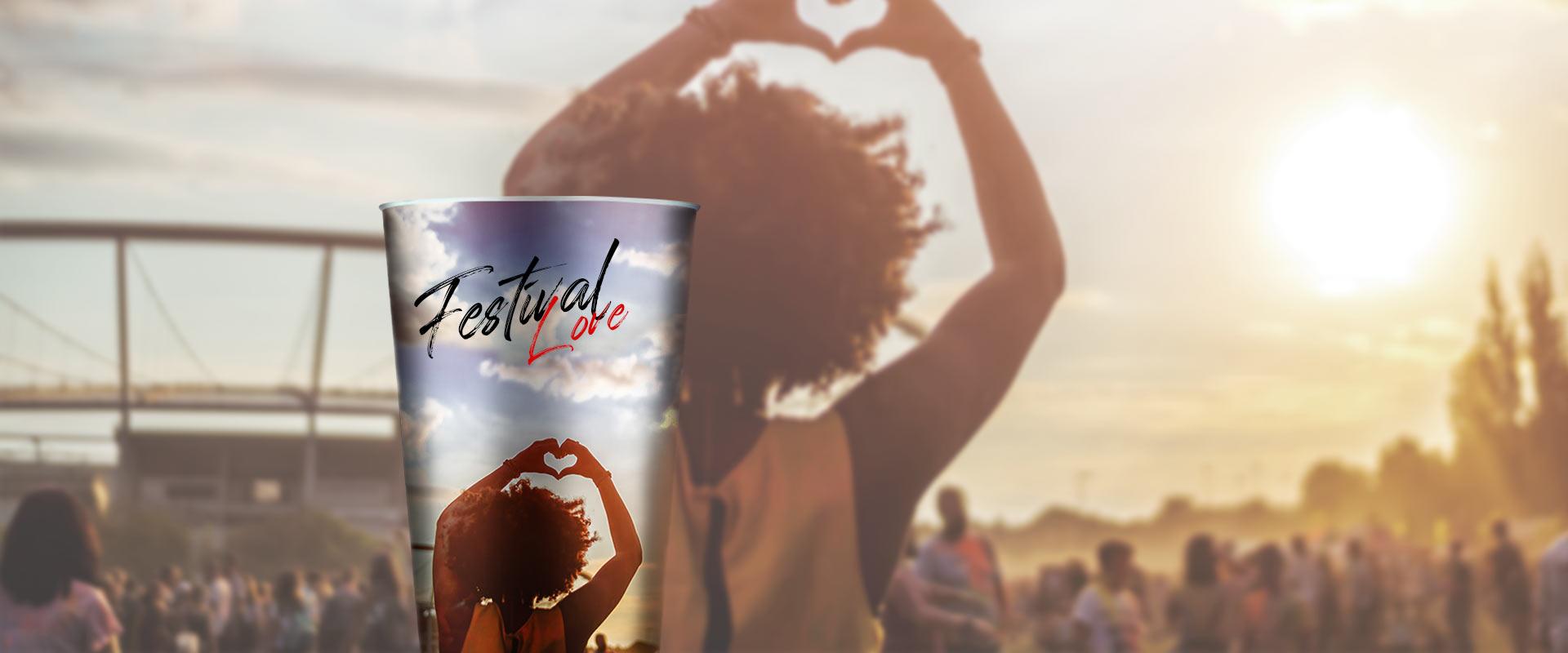 Nachhaltige und wiederverwendbare Festivalbecher von cupstorys.com