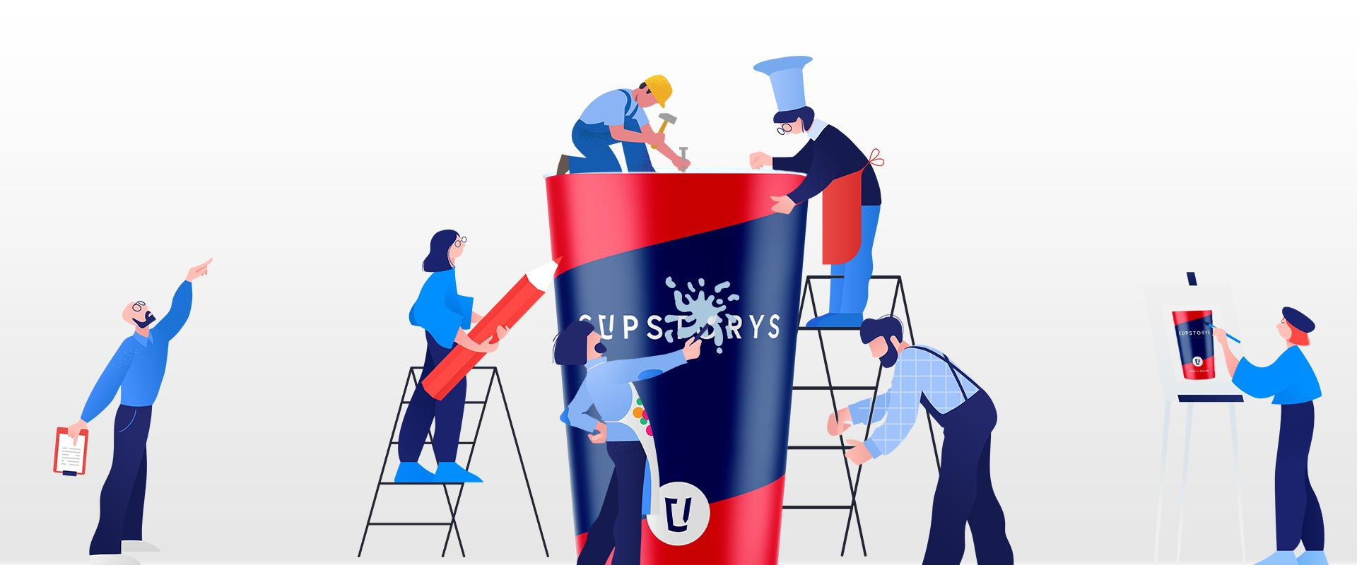 Mehrwegbecher mit Logo von cupstorys.com
