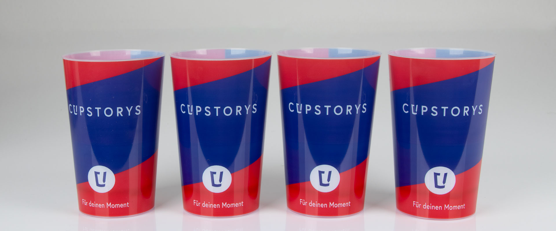 Mehrwegbecher mit Logo bei cupstorys.com bedrucken lassen